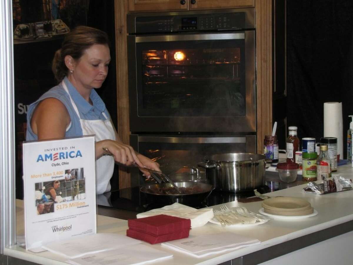 The Whirlpool Cooking Stage showed patrons how to make quick and easy meals at the 10th Annual Fall Home and Garden Show at The Woodlands Waterway Marriott Hotel Sunday.