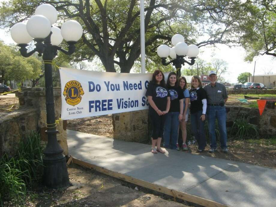 Recently, the Montgomery High School Leo Club had a vision screening as part of its community service. Pictured: (left to right) are Leo Kathryn Williams, Leo Jessica Green, Lion Jennifer Brown, MHS Leo Club Adviser Karen Lonon and Lion Marvin McKenzie.