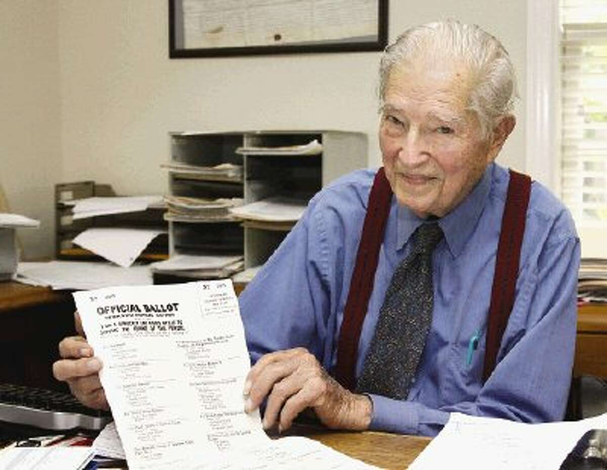 Whitson Etheridge, who died Dec. 26, was photo-graphed for an interview in The Courier last June.