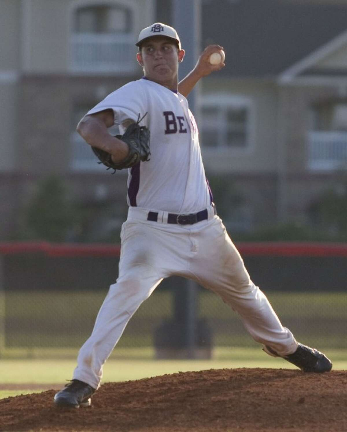 Montgomery's Ty Boland pitched a two-hit shutout against Lamar Consolidated in Game 2 of the teams' best-of-three Region III-4A final series last Thursday at Langham Creek High School.