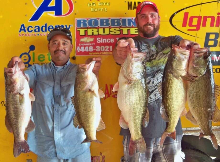 Garrett Pierce and Juan Monroy won the Ignition Bass Open Tournament No. 3 on Dec. 1 with a stringer weighing 24.69 pounds.