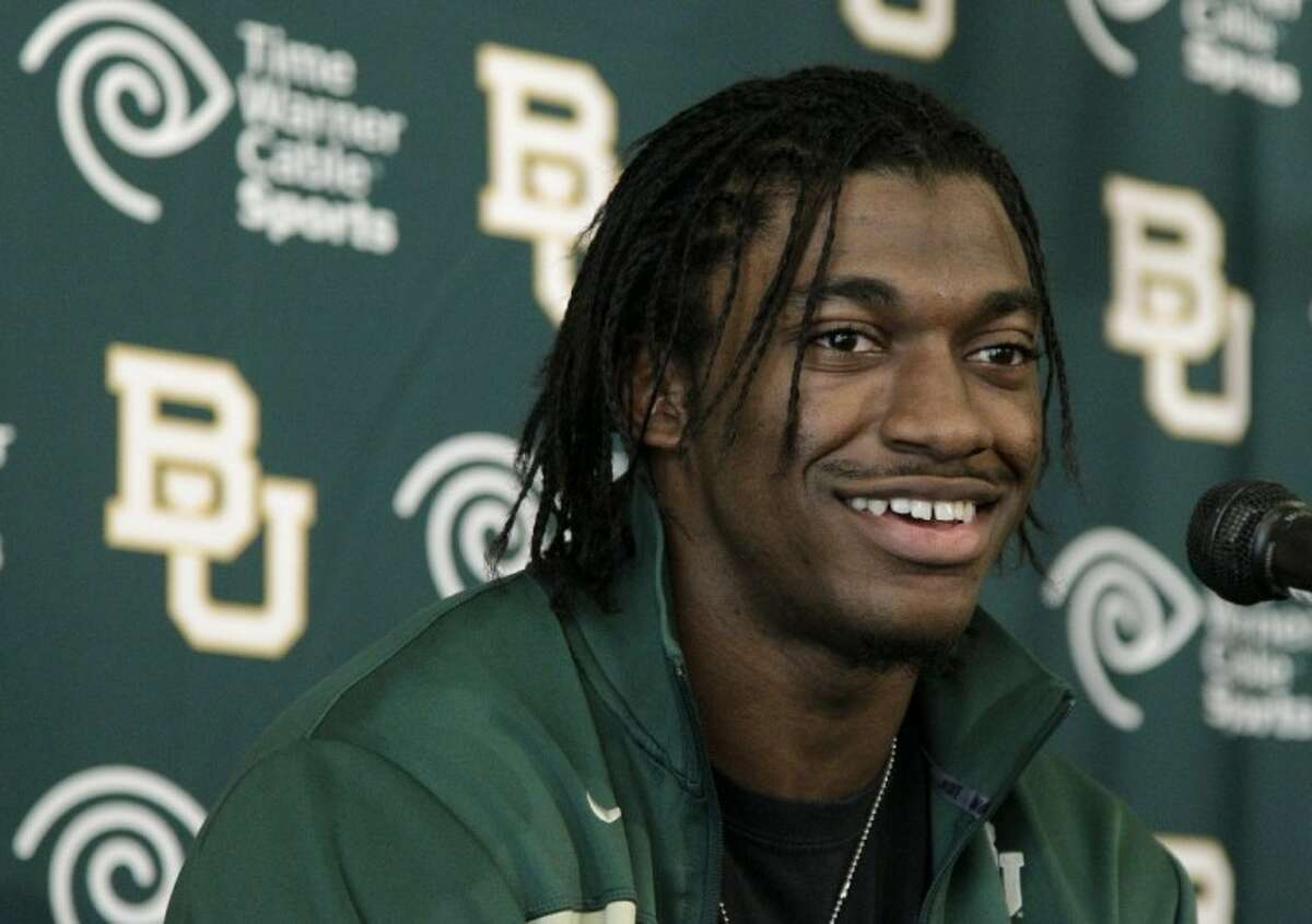 Heisman Trophy winner Robert Griffin III attends a news conference Jan. 11 after announcing that he would skip his senior year at Baylor and enter the NFL draft in Waco. FOXSports.com is reporting the Washington Redskins have a deal in place to acquire the No. 2 pick in the NFL draft and plan to take Griffin.