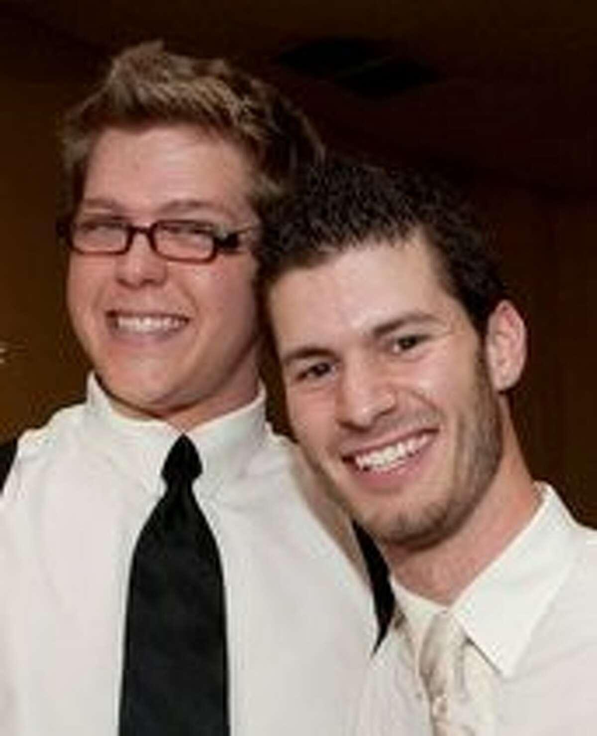 Dominic Pallotta, right, and Beavan Blocker, are graduates of The Woodlands High School.
