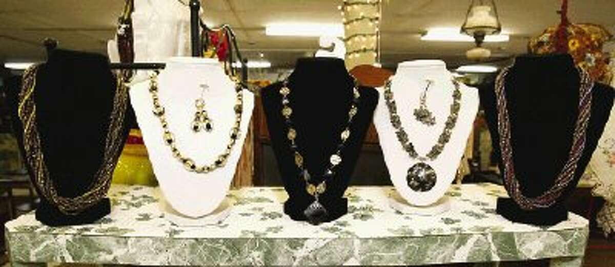 Antique-inspired and vintage-style jewelry is a popular gift item available at Conroe Central Market.