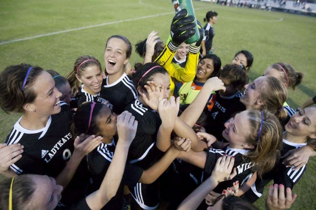 Willis celebrates after their 3-1 victory against Tomabll Memorial at College Park High School on Friday in The Woodlands. See more photos online at yourhoustonnews.mycapture.com.