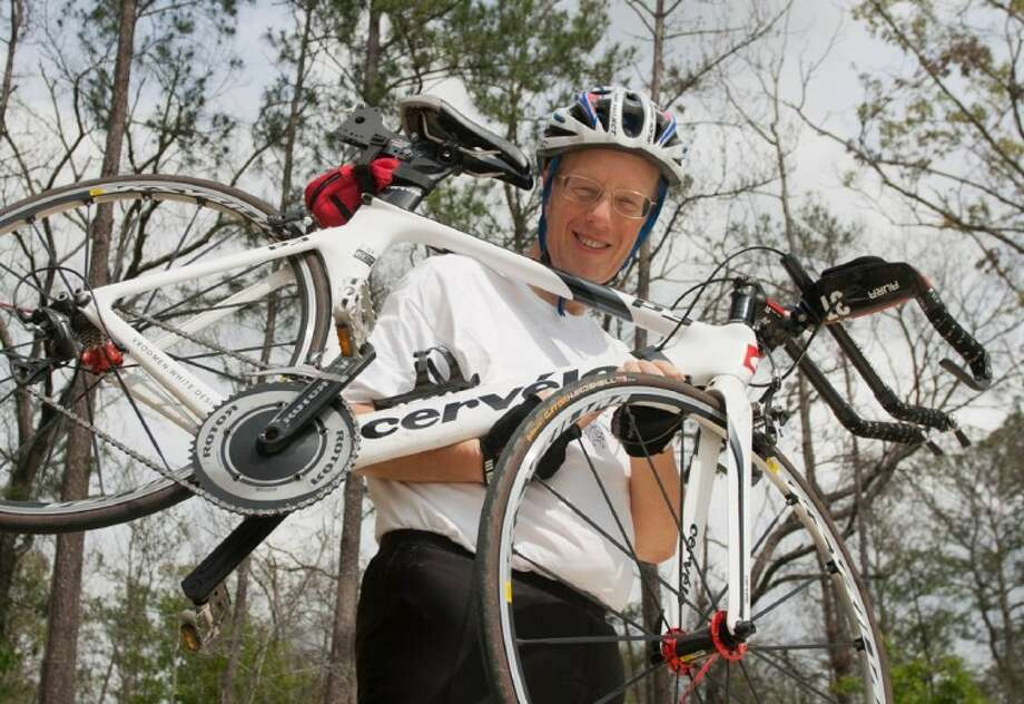 Woodlands attorney Eric Yollick will be competing in the 2012 Memorial Hermann Texas Ironman Triathlon. Yollick has lost more than 200 pounds since July 2010 and is trying to raise $1 million for cancer research. Photo: Staff Photo By Eric S. Swist