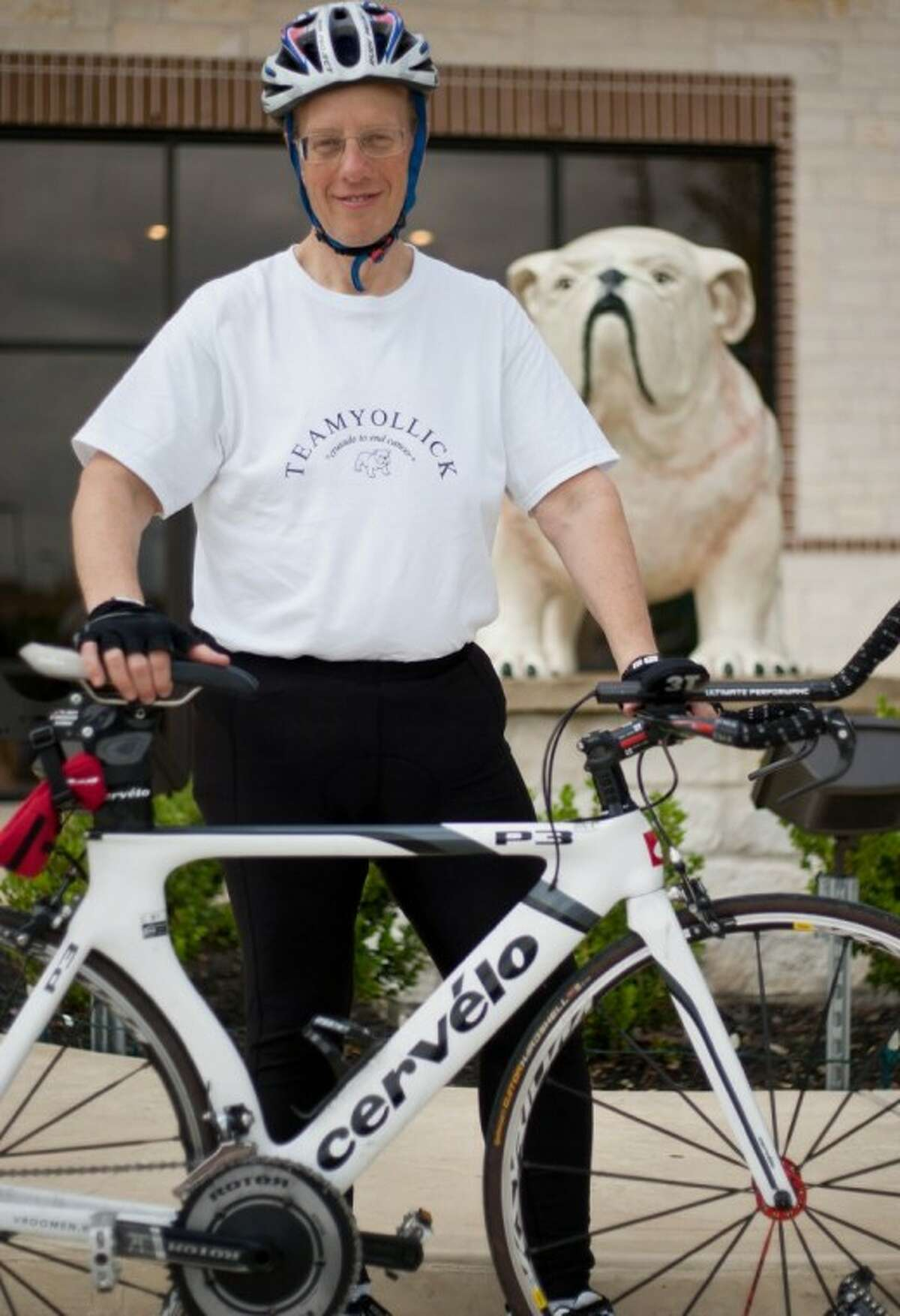 Woodlands attorney Eric Yollick will be competing in the 2012 Texas Ironman triathlon.