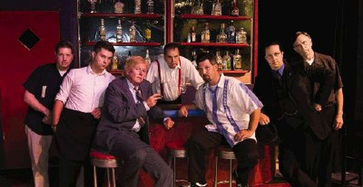 "The men of ""Smokey Joe's Cafe"" include, from left, Creg Kelly, Hunter McMahon, John McDonald, Dan Tippen, Joey Lamont, Neil Courington and David Herman."