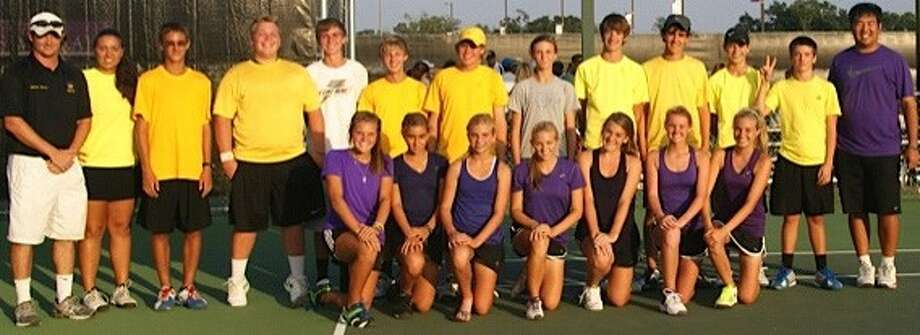 Pictured are Montgomery assistant coach James Mauer and head coach Amy Cabato with players Andrew Penshorn, Matt Tarver, Keaton McCormick, Brycen Boyd, Brad Henkleman, Carlee Cramer, Hogan Reeves, Jorge Ruiz, Brock Lauer, Drew Duckworth and assistant coach Chris Cheng. In the front row are Erika Richarme, Valerie Ruiz, Molly Hinkle, Kylie Barroso, Dana Glaser, Jillian Wright and Victoria Ishee.