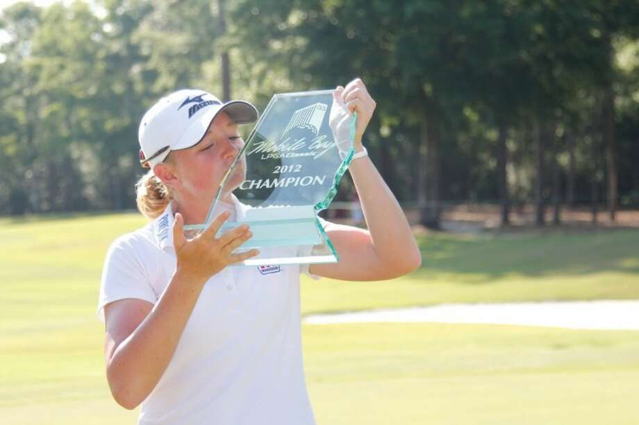 Stacy Lewis, a graduate of The Woodlands High School, won the Mobile Bay LPGA Classic on Sunday. Photo: Jonathan Hoomes