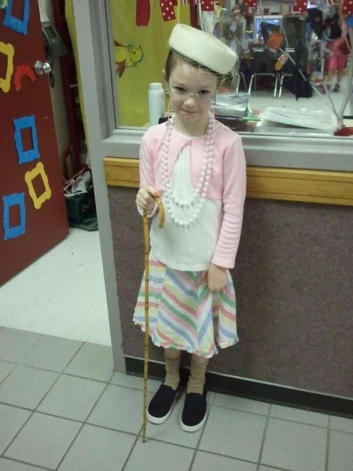 Geisinger Elementary celebrated its 100th day of school Feb. 1. Kindergarteners were asked to dress up as 100-year-olds. Pictured is Brooklyn Spikes, who is in Ashley Kahn's class. Photo: Courtesy Photo