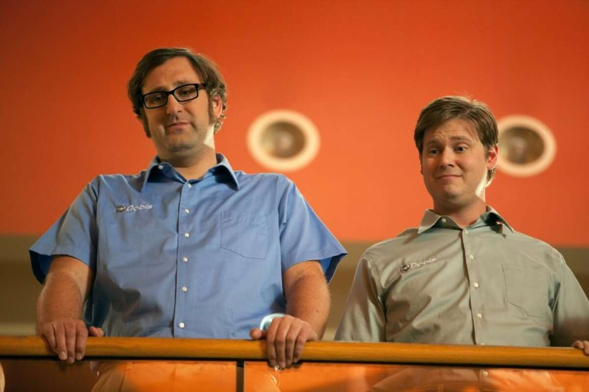 """In this film image released by Magnolia Pictures, Eric Wareheim, left, and Tim Heidecker are shown in a scene from """"Tim & Eric's Billion Dollar Movie."""""""