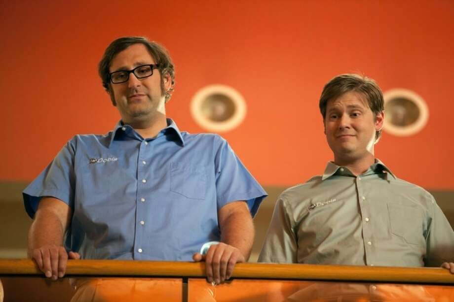 "In this film image released by Magnolia Pictures, Eric Wareheim, left, and Tim Heidecker are shown in a scene from ""Tim & Eric's Billion Dollar Movie."" Photo: Anonymous"