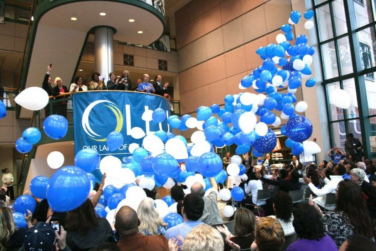 Our Lady of the Lake University celebrated its grand opening Saturday with a balloon drop, music, food and addresses from President Tessa Martinez Pollack, Lone Star College System officials and OLLU-Houston students and alumni.