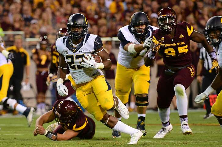 TEMPE, AZ - SEPTEMBER 24:  Running back Vic Enwere #23 of the California Golden Bears carries the football in the second quarter against the Arizona State Sun Devils at Sun Devil Stadium on September 24, 2016 in Tempe, Arizona.  (Photo by Jennifer Stewart/Getty Images)
