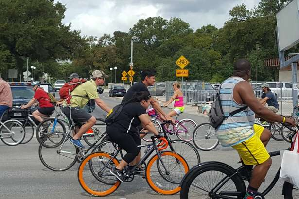 San Antonio residents rode their bikes, skates, scooters, skateboards, unicycles and just about anything with wheels along Broadway Sunday afternoon, Sept. 25, 2016, for the annual Síclovía.