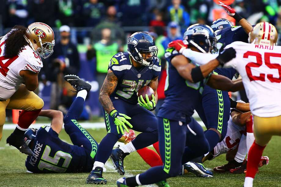 Thomas Rawls rushed for 209 yards and two touchdowns against the 49ers in 2015. Photo: GENNA MARTIN, SEATTLEPI.COM
