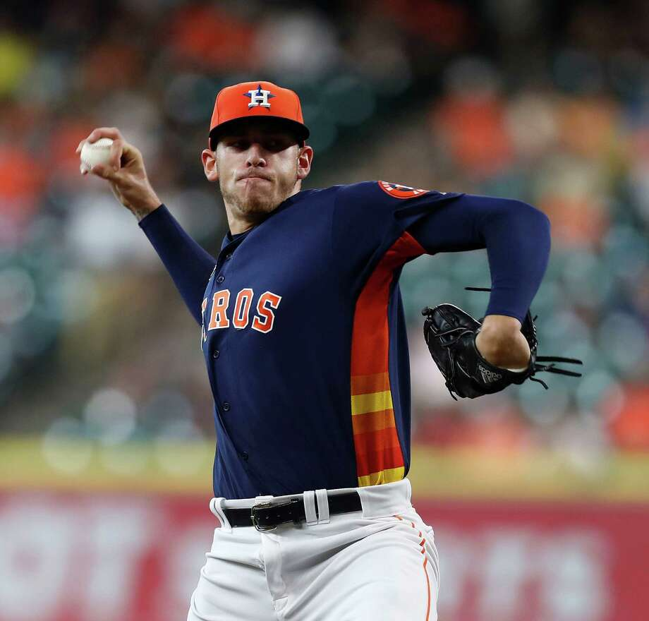 Houston Astros starting pitcher Joe Musgrove (59) pitches during the first inning of an MLB game at Minute Maid Park, Sunday, Sept. 25, 2016 in Houston. Photo: Karen Warren, Houston Chronicle / 2016 Houston Chronicle