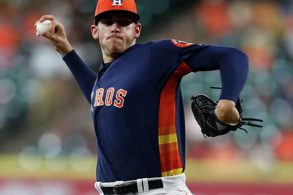 Houston Astros starting pitcher Joe Musgrove (59) pitches during the first inning of an MLB game at Minute Maid Park, Sunday, Sept. 25, 2016 in Houston.