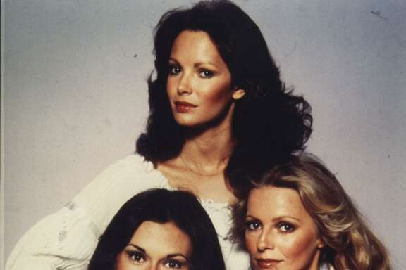 "Ladd with fellow ""Charlie's Angels"" cast members Jaclyn Smith and Kate Jackson."