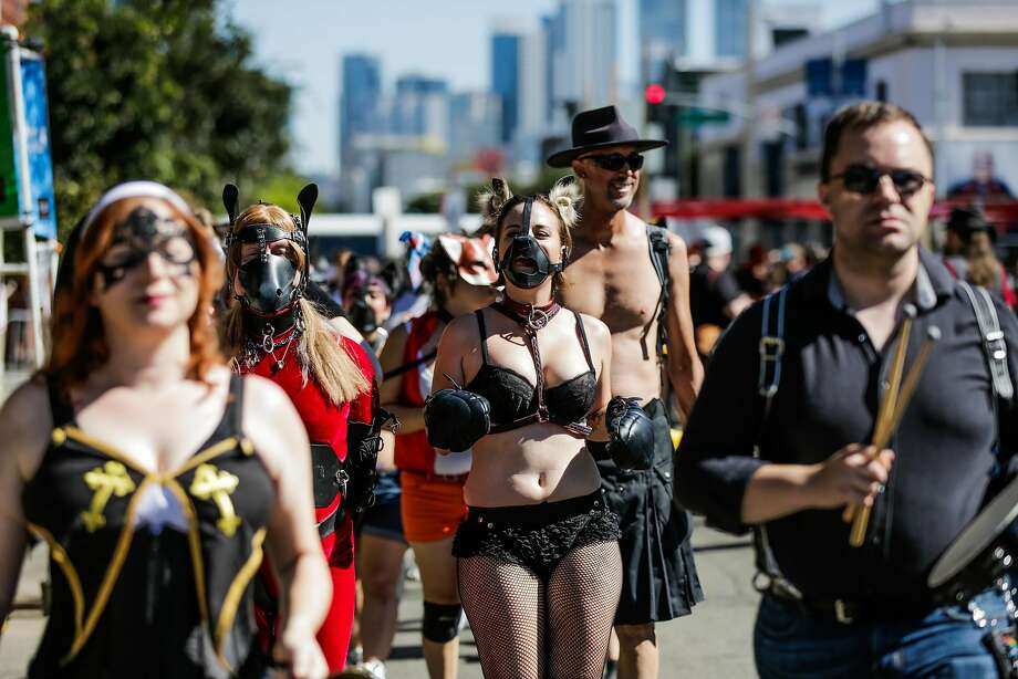 Heads up, parents: Folsom Street Fair is happening this weekend in San Francisco. Photo: Gabrielle Lurie, The Chronicle