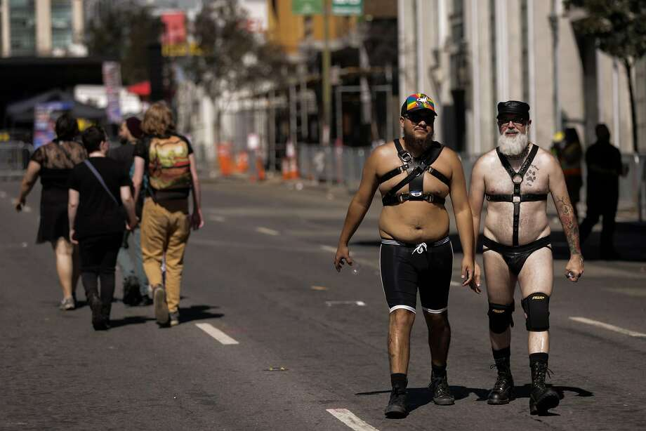 In this file photo, people dressed in costume walk through the Folsom Street Fair in San Francisco, California, on Sunday, Sept. 25, 2016. Photo: Gabrielle Lurie, The Chronicle