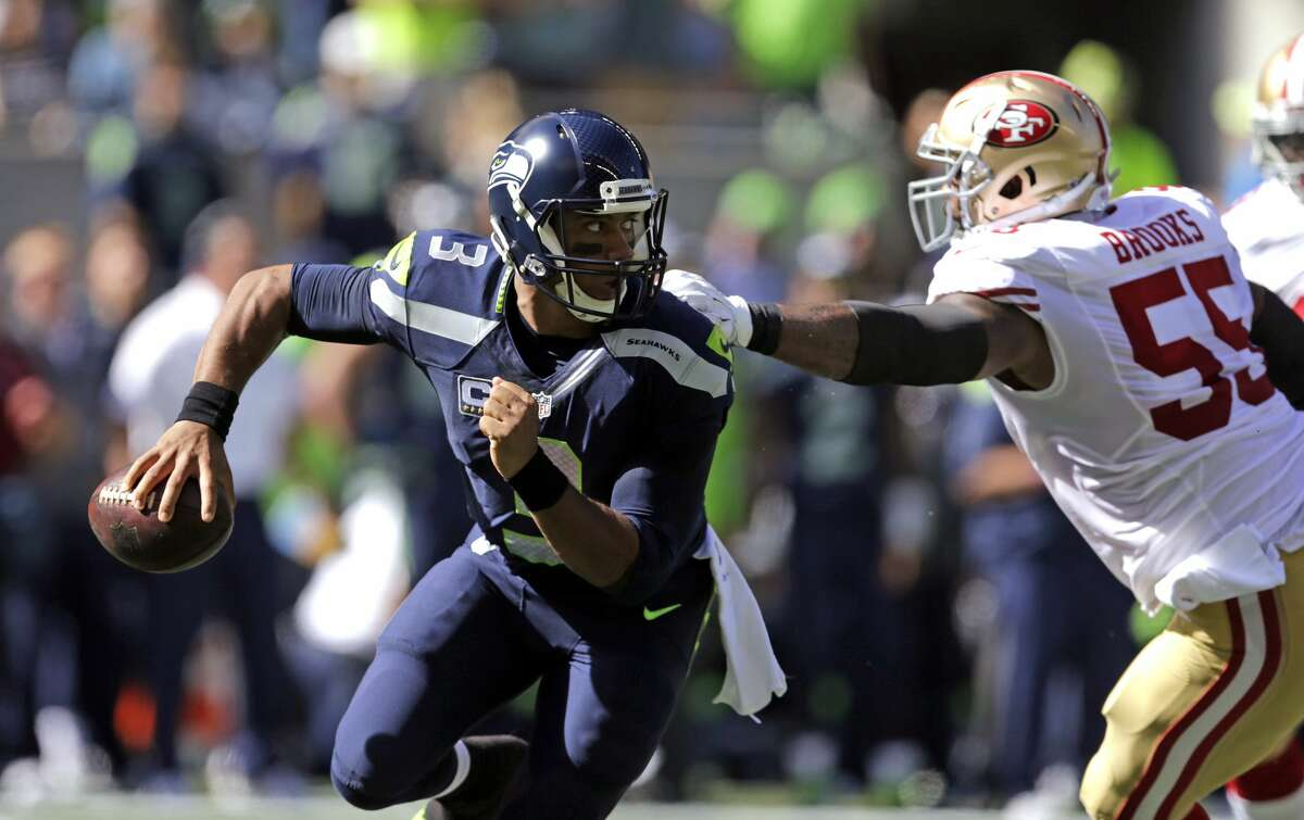 And now that you've seen all the odds, how about a look through our first-quarter grades for the Seattle Seahawks. The takeaway? They're doing just fine. Quarterback: A- Russell Wilson showed incredible toughness and dedication through the first quarter of the season after suffering two major injuries in three games: A high ankle sprain versus Miami in Week 1 and a sprained medial collateral ligament (MCL) against San Francisco in Week 3. He hasn't played quite up to the level we saw from him at the end of 2015, when he rewrote Seattle's record books, but he's been far from bad, sporting a 99.3 quarterback rating. Rookie backup Trevone Boykin performed admirably when pressed into action versus the 49ers.
