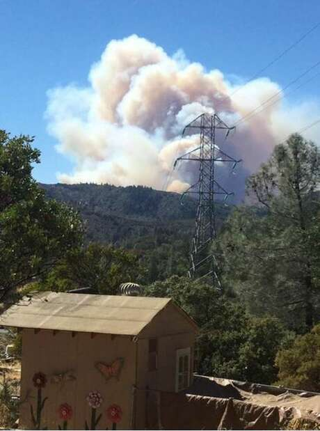 The Sawmill Fire grew quickly in rural Sonoma County about 10 miles east of Cloverdale on Sunday. Photo: Cal Fire / /