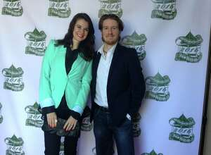 """""""Soldiers of Vietnam"""" Chris Bryant and his wife Diana Bryant standing on the """"red carpet"""" Sunday before entering the reception after the Manhattan Short Film Festival at the Bank Street Theater in New Milford."""