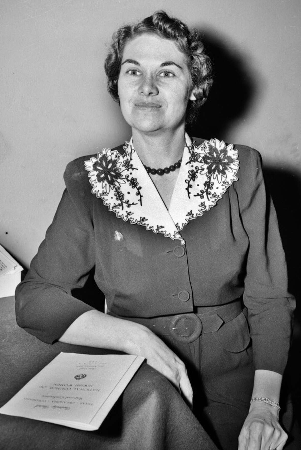 Frances Rosenthal Kallison, shown in 1948, was known partly for doing research on Texas Jews and as an advocate of the poor. She died in 2004.