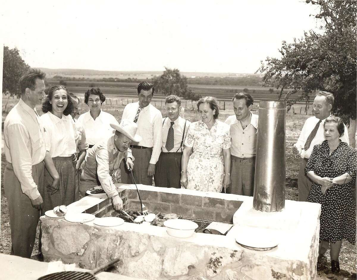 Frances Kallison, the second woman from the left, is seen in a family photo from 1946 that was taken at the Diamond K Ranch northwest of San Antonio.