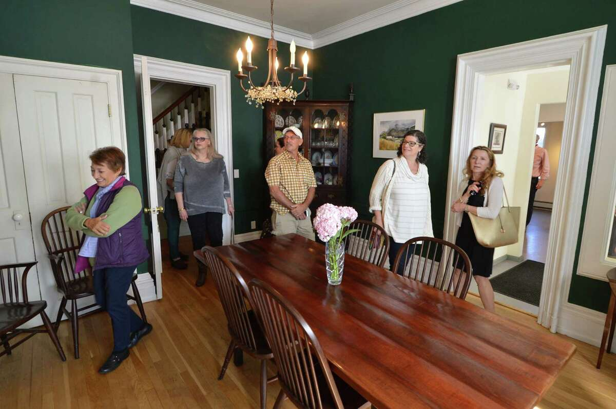 The formal dining room at the Stephen H. Smith house in the Cranbury section was on The Norwalk Preservation Trust tour of the Victorian era. Guests took the tour by luxury bus to other homes and points of interest on Sunday September 25, 2016 in Norwalk Conn.