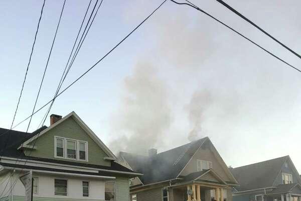 A fire at 82 Merchant St., Bridgeport, began around 6 p.m. Sunday.