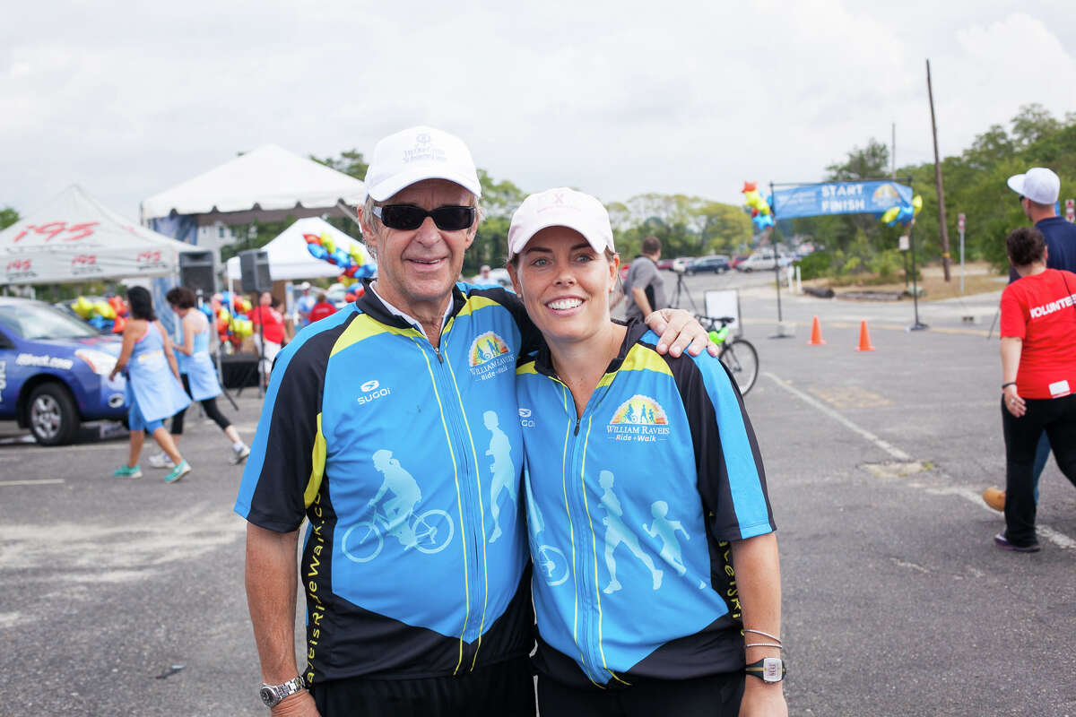 Bill Raveis and his daughter-in-law Meghan Raveis at the 2015 Raveis Ride + Walk. This year's event, a benefit for Damon Runyon Cancer Research (DRCR), is scheduled to take place in Norwalk on Oct. 16.