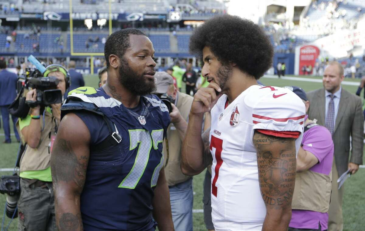 1. Kaepernick wouldn't damage the Seahawks' locker room Seattle has a culture that wouldn't be destroyed or damaged by the addition of Kaepernick. Jeremy Lane, Doug Baldwin, Cliff Avril and Michael Bennett are among the current Seattle players to voice their support of Kaepernick's activism. Will there be teammates who disagree with his decision to protest the anthem? Sure. But that was also the case in San Francisco -- a team with a less defined culture, now on its third head coach in three years -- and the players awarded Kaepernick their most prestigious honor for courage and inspiration after the season.