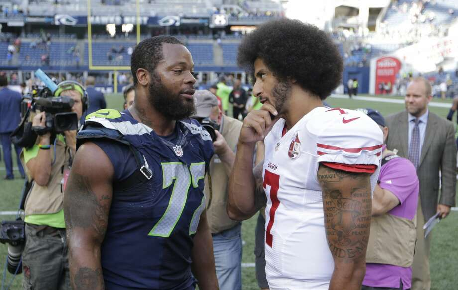 1. Kaepernick wouldn't damage the Seahawks' locker roomSeattle has a culture that wouldn't be destroyed or damaged by the addition of Kaepernick. Jeremy Lane, Doug Baldwin, Cliff Avril and Michael Bennett are among the current Seattle players to voice their support of Kaepernick's activism.Will there be teammates who disagree with his decision to protest the anthem? Sure. But that was also the case in San Francisco -- a team with a less defined culture, now on its third head coach in three years -- and the players awarded Kaepernick their most prestigious honor for courage and inspiration after the season. Photo: John Froschauer/AP