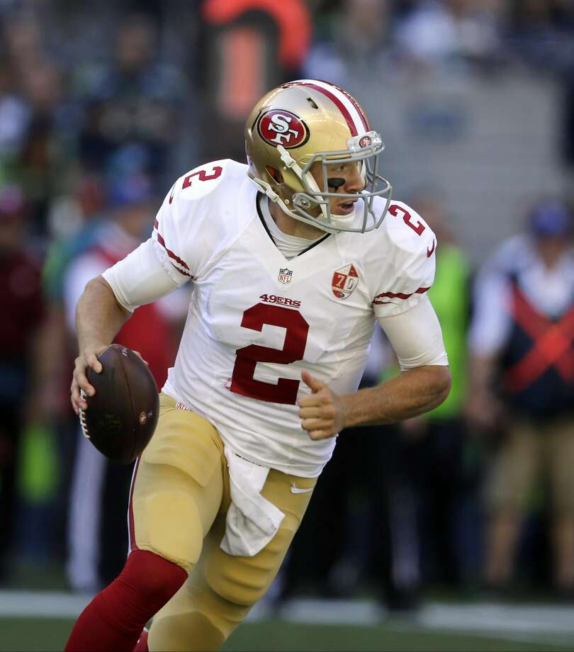 Blaine Gabbert was limited to 119 yards passing by Seattle. Photo: John Froschauer, Associated Press