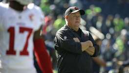 San Francisco 49ers head coach Chip Kelly looks on before an NFL football game against the Seattle Seahawks, Sunday, Sept. 25, 2016, in Seattle. (AP Photo/Ted S. Warren)