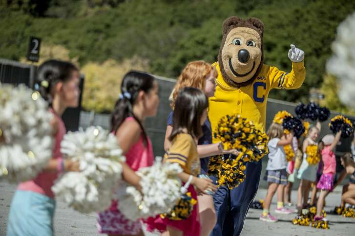 Oski the Bear at California Memorial Stadium, on Sunday, Sept. 25, 2016 in San Francisco, Calif. Oski, the Cal's mascot, is turning 75-years-old on September 27.