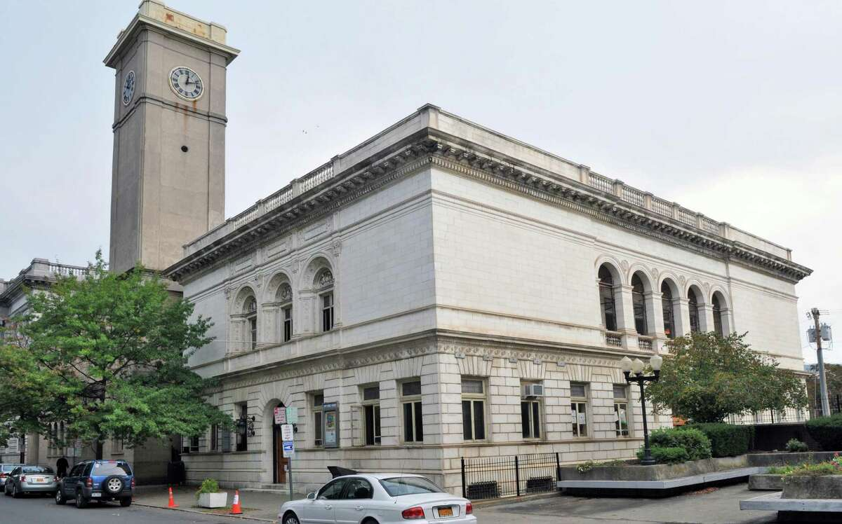 Exterior of the Troy Public Library on Tuesday Sept. 27, 2011, in Troy, N.Y. (John Carl D'Annibale / Times Union)