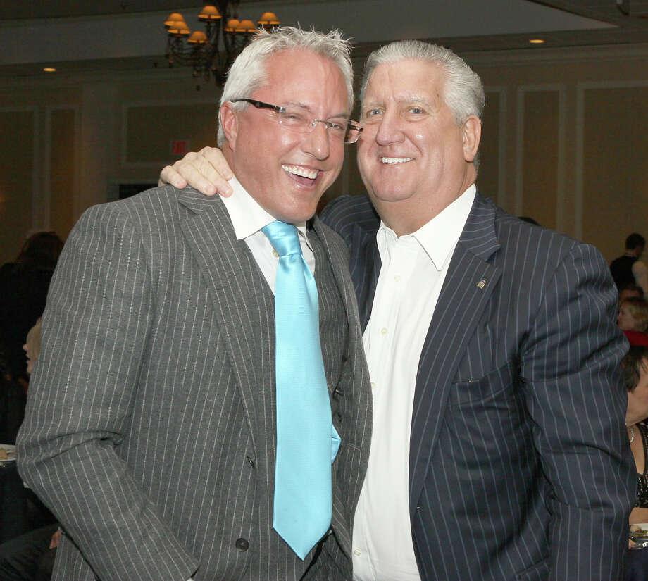 Joseph Nicolla, left, and then-Mayor Jerry Jennings at a 2012 benefit for Capital Region arts organizations. (Times Union file photo) Photo: Joe Putrock / Joe Putrock