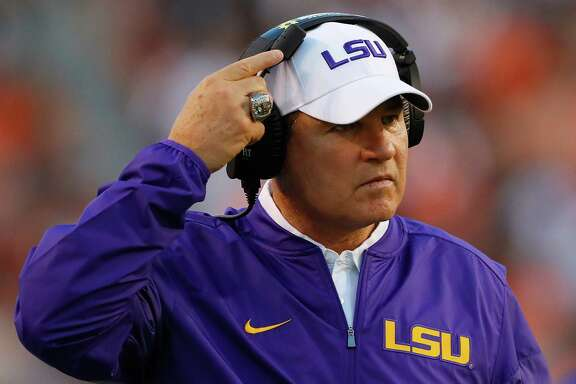 LSU coach Les Miles, pictured during Saturday's loss to Auburn, was fired Sunday four games into his 12th season. He compiled a 114-34 record and won a national title with LSU.