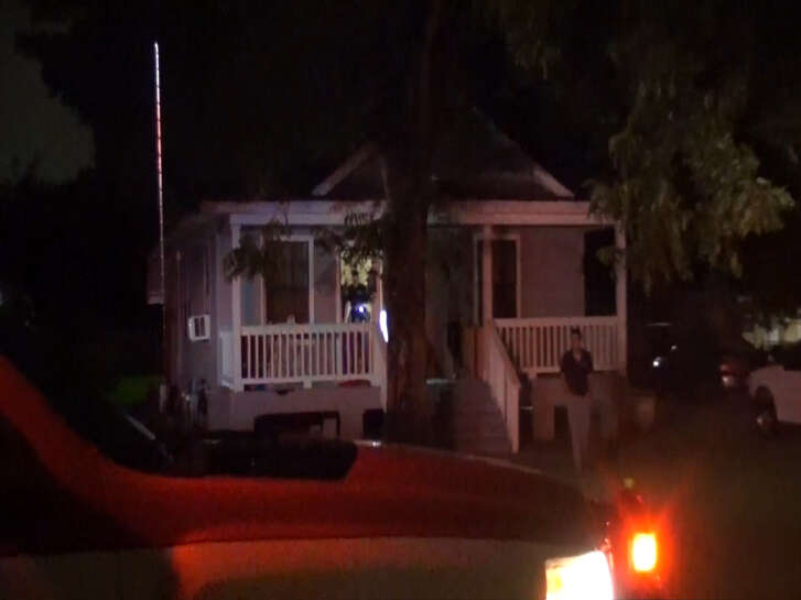 A screenshot of footage of a home on Biscayne Way near Little Rock Road in north Houston, Texas. On Sept. 26, 2016, a resident told officers a group of masked men invaded his home and stole belongings.
