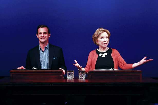 "Mark H. Dold and Debra Jo Rupp in ""Love Letters"" at Barrington Stage Company. (BSC publicity photo by Elizabeth Nelson.)"