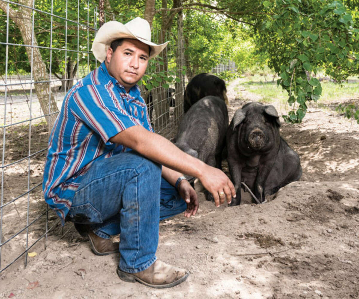 The Butcher's Ball is an event that brings together cefs, butchers and ranchers for a day-long demonstration of butchering, meat cooking and smoking on Oct. 9 in Brenham. Shown: Participating chef Felix Florez of Black Hill Ranch, Houston.