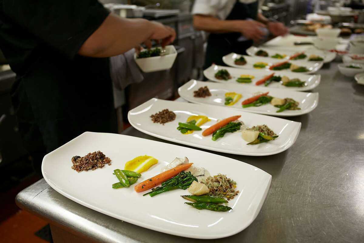 Inside the kitchen of the Westin St. Francis, which cooks for the entire hotel.