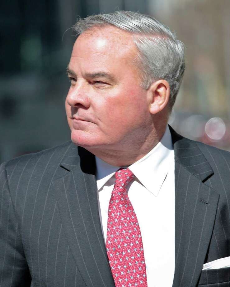 Former Connecticut Gov. John Rowland outside the federal appeals court in New York last March. on Friday, March 18, 2016 in New York. Rowland withdrew his appeal to the US Supreme Court and reported to prison on Monday. Photo: Bebeto Matthews / AP / Copyright 2016 The Associated Press. All rights reserved. This material may not be published, broadcast, rewritten or redistribu