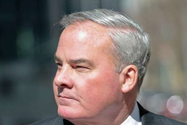 Former Connecticut Gov. John Rowland outside the federal appeals court in New York last March. on Friday, March 18, 2016 in New York. Rowland withdrew his appeal to the US Supreme Court and reported to prison on Monday.