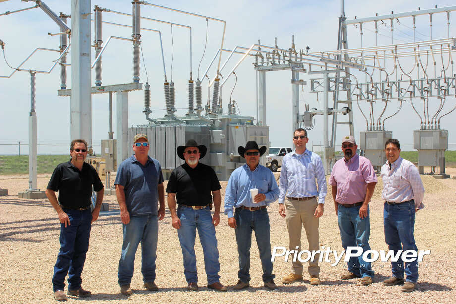 Members of the Endeavor Energy Resources and Priority Power Management team are seen at the new Endeavor Bryant Ranch EHV Substation serving oil and gas production in the Midland Basin. Photo: Courtesy Photo