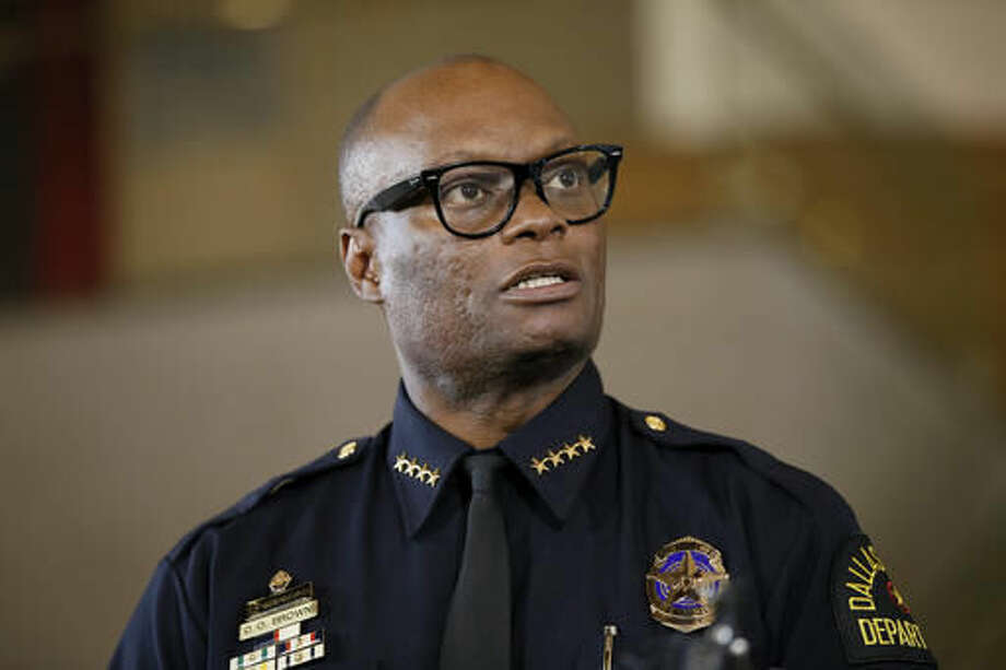 FILE - In this June 15, 2015 file photo, Dallas Police Chief David Brown briefs the media about a shooting at Dallas Police headquarters in Dallas. Brown, who's drawn criticism amid plummeting morale among officers and widespread praise for his response to the July sniper attack that killed five officers, has announced his retirement. Brown issued a statement Thursday, Sept. 1, 2016, saying he will retire Oct. 22 after 33 years with Dallas police. (AP Photo/Tony Gutierrez, File) Photo: Tony Gutierrez